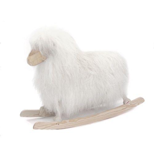 Rokkefår - Hvid langt hår