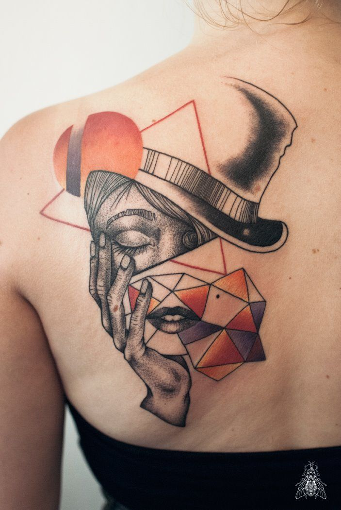 by Mopik, Musca Imago #ink #tattoo #geometry #madhatter #aliceinwonderland