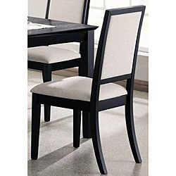 Premier Black Dining Chairs (Set of 2) | Overstock.com Shopping - Great Deals on ABC Dining Chairs                                                                                                                                                                                 Más