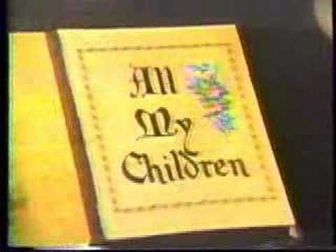 All My Children - Early 80s Opening Theme -- totally remember my mom watching this every day at noon, and I liked to check it out a lot, too:) <3