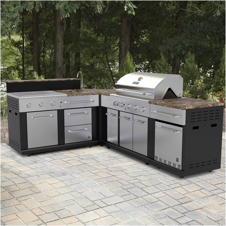 Pin On A Modular Kitchen: Master Forge Corner Modular Outdoor Kitchen Set Lowe S Canada From Lowes Outdoor Kitchen