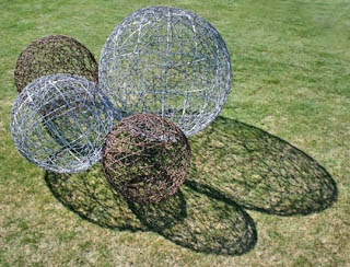 Wire Garden Art Sculptures Made From Recycled Fencing Wire In Lake Tekapo,  New Zealand.