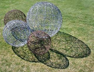 Chicken Wire And Spray Paint Balls