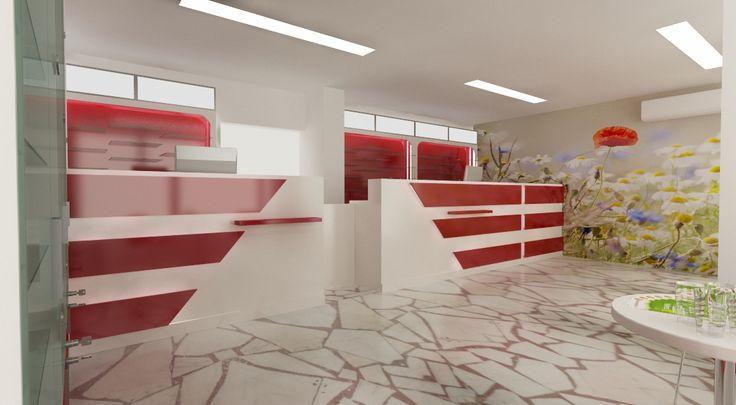 Proiect amenajare farmacie - counter oficina, mobilier specializat pentru farmacii  http://www.sertarefarmacii.ro/proiecte