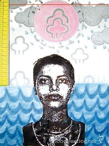 La Nueva Nefer llora por las inundaciones. 2005. Tinta y acuarela/papel. Alma Ajo