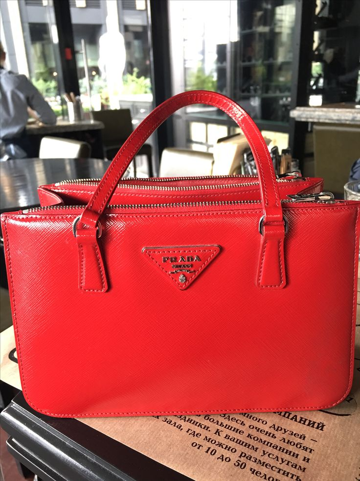 Prada Red mini handbag