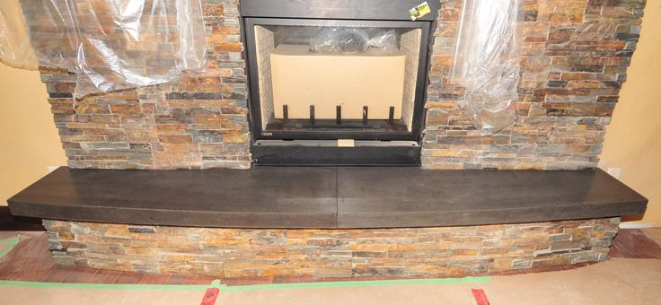 Add Excitement To A Beautiful Fireplace With A Concrete Hearth New Home Pinterest