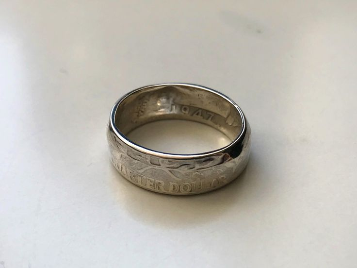 Excited to share the latest addition to my #etsy shop: US Quarter Dollar Coin Ring (Polished Finish) http://etsy.me/2CjpV1k #jewellery #ring #yes #women #coinring #rings #mensrings #womensrings #boysrings