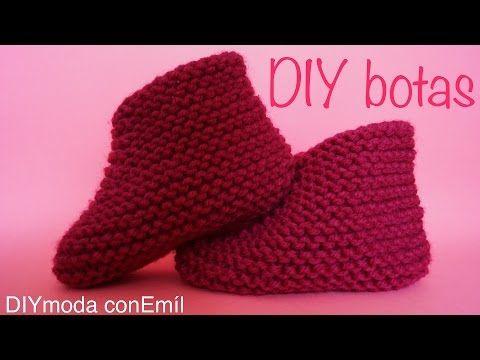 Botas - Zapatos para bebe en dos agujas #1 - YouTube