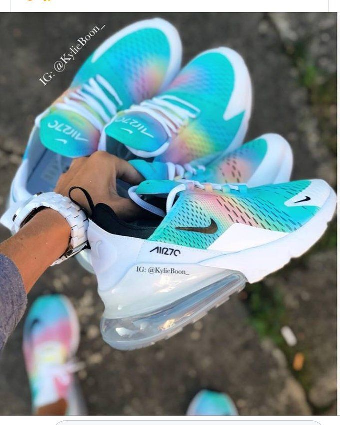 Image of Pre Made UK 6 Oil Spill Nike Air Max 270 | Workout
