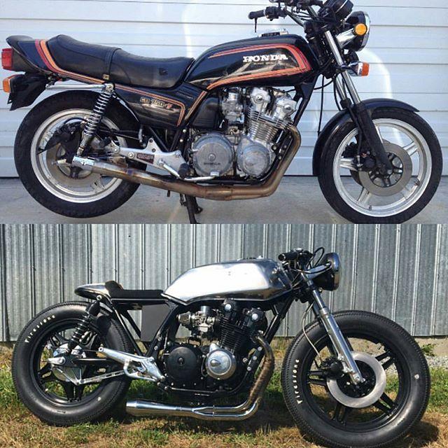 Honda CB750 Cafe Racer/ BEFORE & AFTER