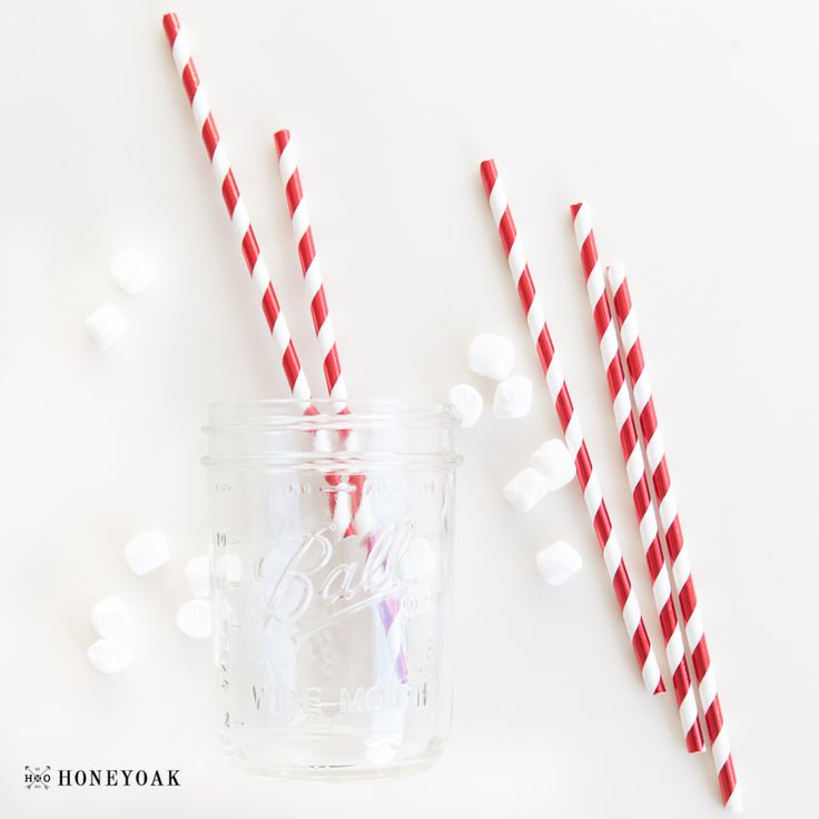 #christmas #straws #ballmason #jul