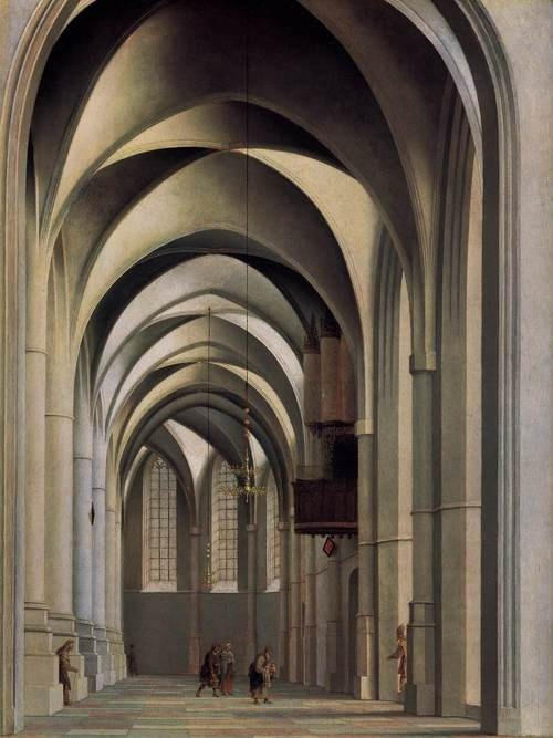 Pieter Jansz Saenredam, Choir of Sint-Bavokerk, 1635. #haarlem #franshals #art #saenredam