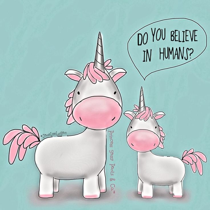 Unicorns say: Do you believe in humans? Written & Illustrated by Princess Sassy Pants & Co