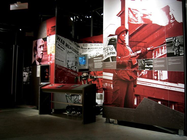 War Measures Act, Permanent Exhibitions, Canadian War Museum,  Exhibit Design by: Origin Studios Inc.
