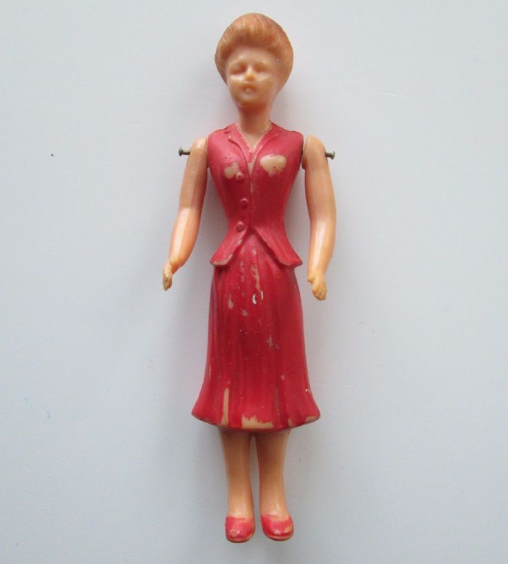 Vintage IDEAL Dollhouse Vinylite Mother Lady Soft Rubber Pin Jointed 1949 RARE | eBay
