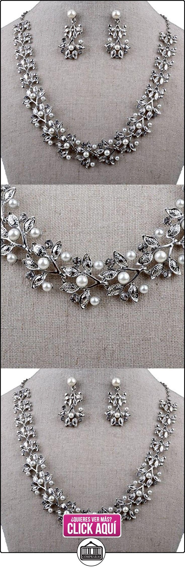 oumosi Collar de perlas pendientes elegante diseño de lujo bañado en oro rosa novia joyería conjuntos  ✿ Joyas para mujer - Las mejores ofertas ✿ ▬► Ver oferta: https://comprar.io/goto/B01IBKG7IO