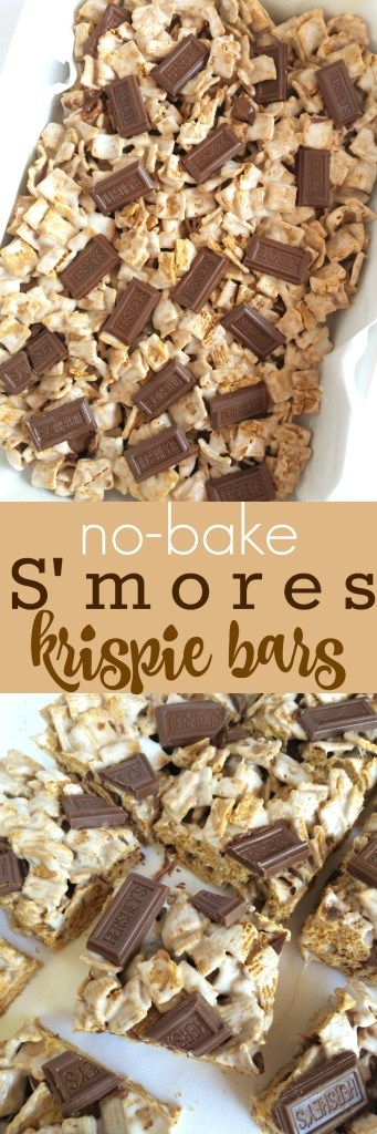 {no-bake} S'mores Krispie Bars - Together as Family