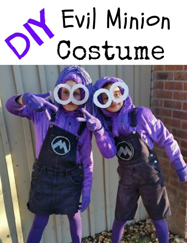 DIY Purple Minion Costumes from Despicable Me 2