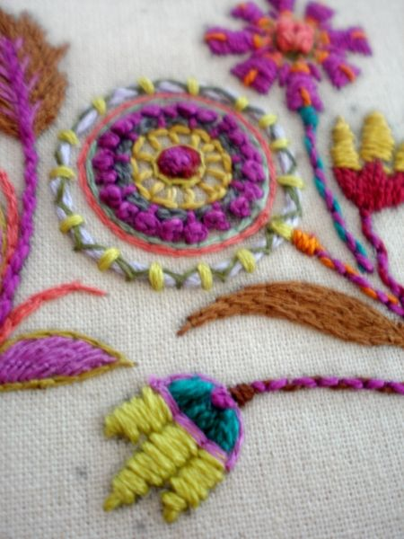 flowers - pretty hand embroidered flowers