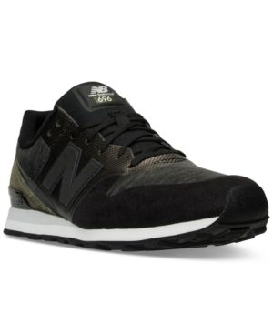 New Balance Women's 696 Re-Engineered Casual Sneakers from Finish Line - GREY/BLACK 9.5