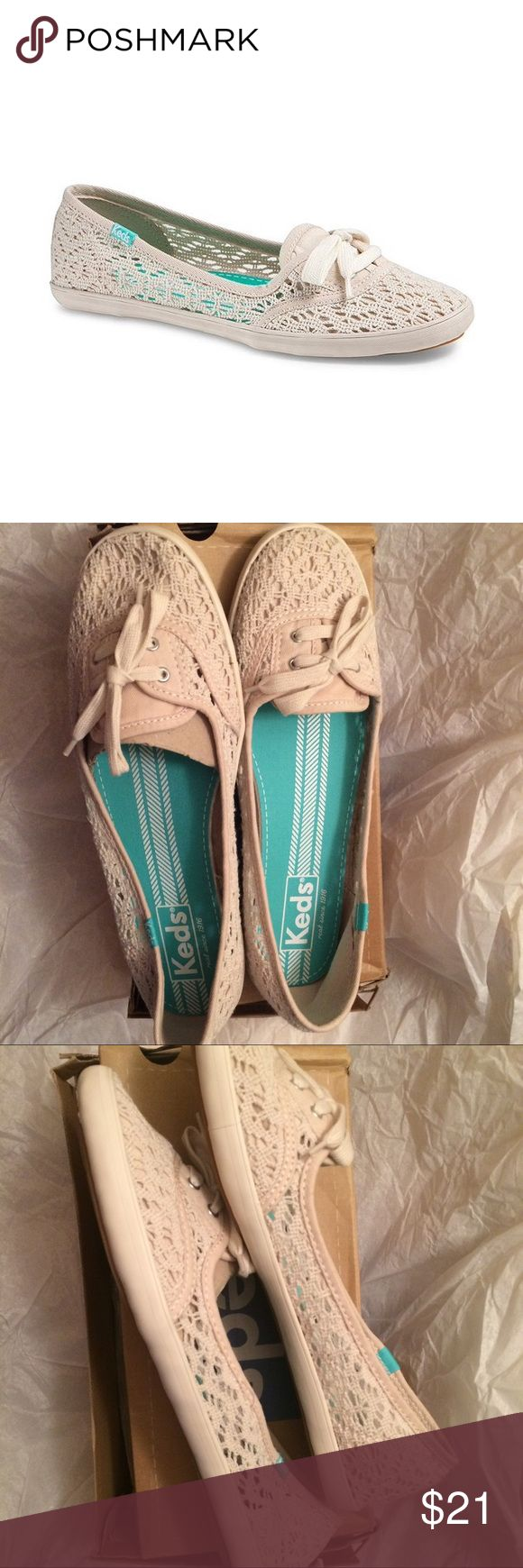 New Keds Teacup Croche Flat Shoes 11M Brand new authentic  Box will NOT be shipped to save the shipping cost. Women size 11M Fast shipping ‼️‼️price is absolutely firm Keds Shoes Flats & Loafers