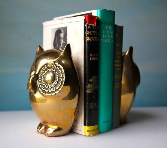 Beautiful Owl Book Ends For The Wisdom.