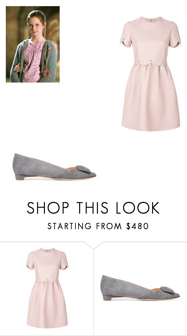 """""""Ginnys Hogwarts outfit"""" by rebeccac-i ❤ liked on Polyvore featuring Valentino and Rupert Sanderson"""