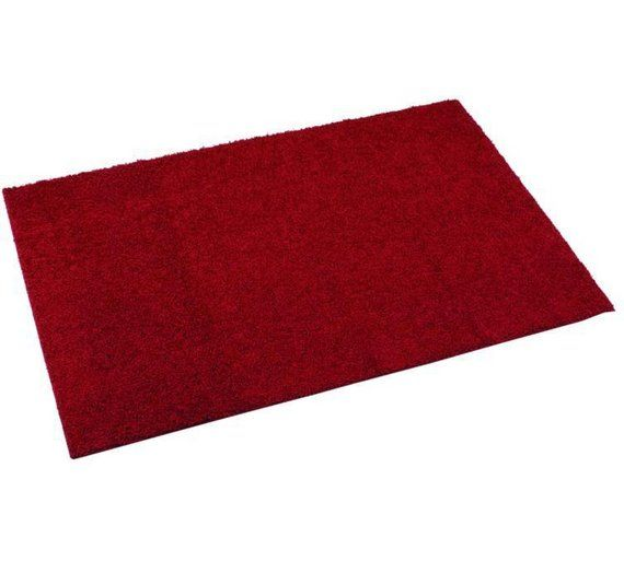 Buy Maroon Fiji Machine Washable Rug - 120cm x 67cm at Argos.co.uk, visit Argos.co.uk to shop online for Rugs and mats, Home furnishings, Home and garden
