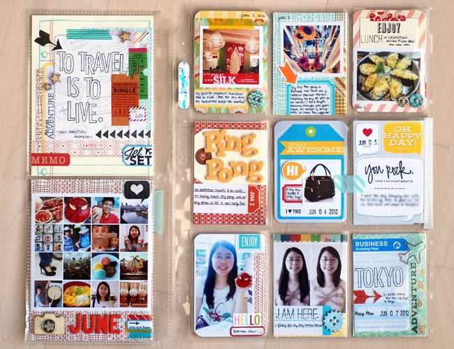 #Projectlife mix of goodies @Geralyn Sy: Project Life, Projects Life Travel, Goodies Geralyn, Life Idea, Paper Tags, Projects Life Layout, Geralyn Sy, Journals Card, Creative Bubbles