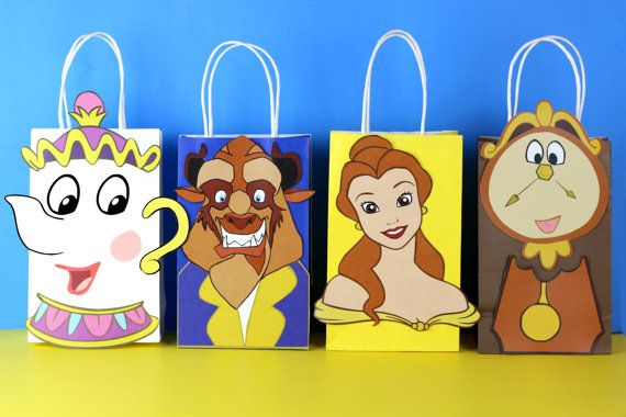 DIY Beauty & The Beast Party Favor Bags. Simply Download, Print, Cut and Paste. Print as many copies as you need.