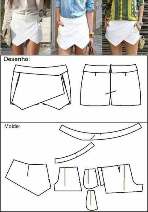 Pantaloncini con pannelli
