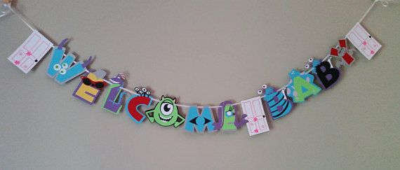 Monsters Inc. Baby Shower Banner Monsters Inc Baby Shower