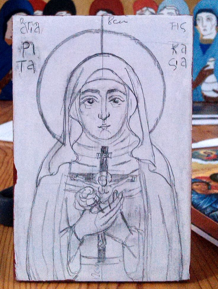 The first attempt for a custom order for St Rita of Cascia