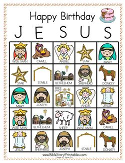 Play Happy Birthday Jesus Bingo!