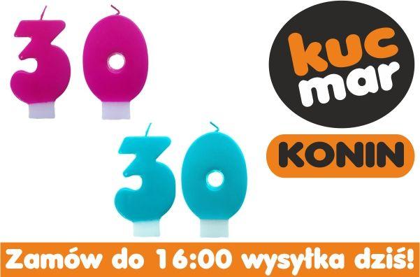Świeczki na Tort 30 30ste urodziny scw w 24h