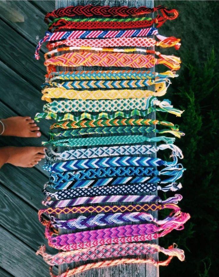 aesthetic vsco friendship bracelets in 2020   Cute ...