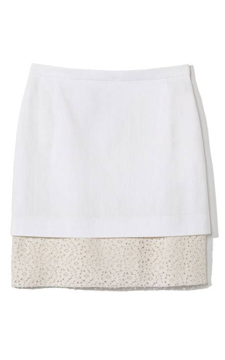 Clean, classic, simple. No. 21 Lace Hem Skirt at Moda Operandi
