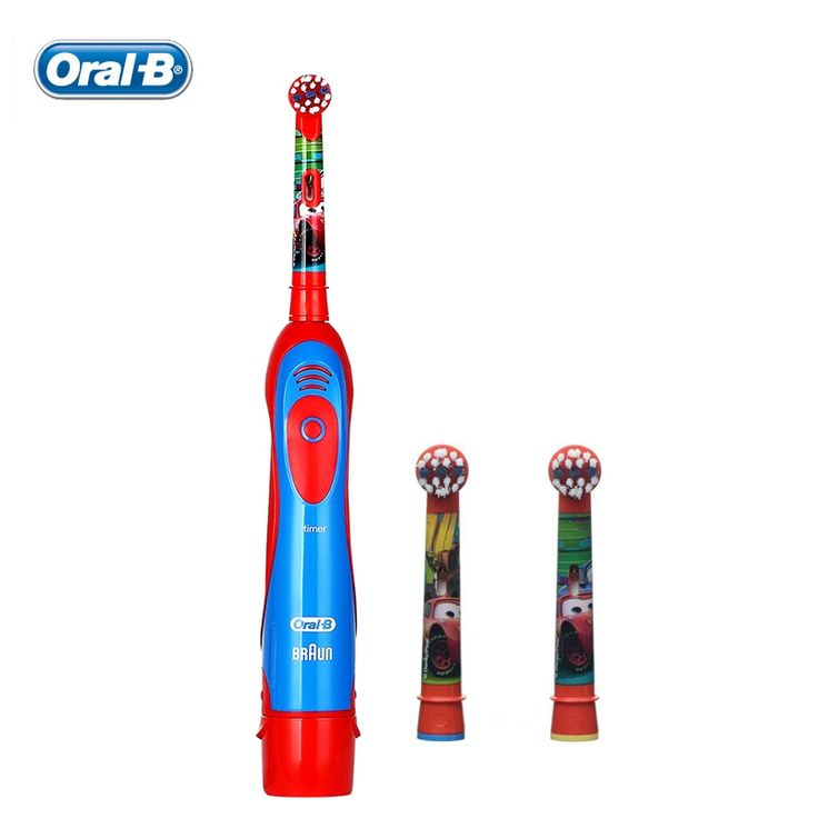 34.36$  Watch more here  - Kids Electric Toothbrush children Toothbrush two AAbatteries + 2 Rechangeable Brush Heads tooth brush Oral B DB4510K  Pixar Cars