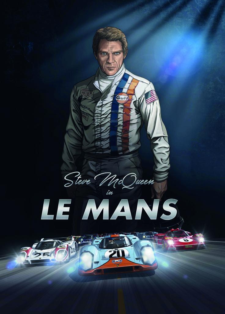 La couverture de l'album hommage au film Le Mans de et avec Steve McQueen. On entendrait presque le cœur du pilote et acteur battre... - Aucun(e)