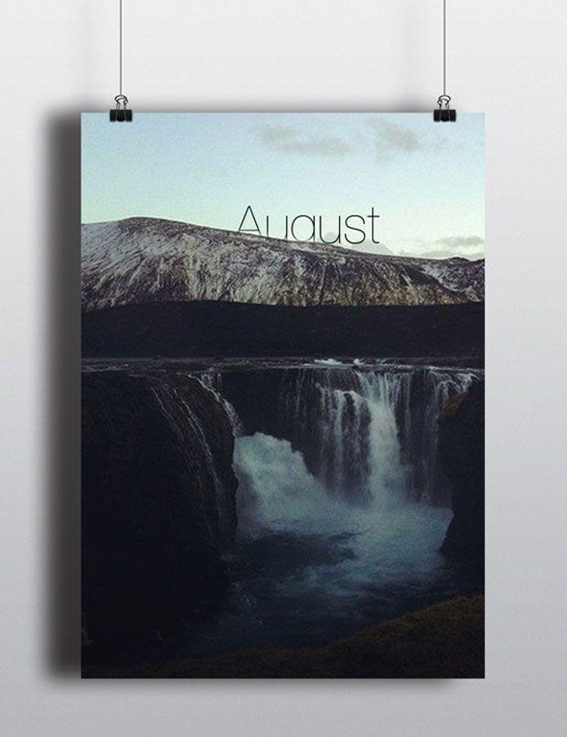 ¡Mirad qué calendario perpetuo más precioso hemos encontrado! Agosto.