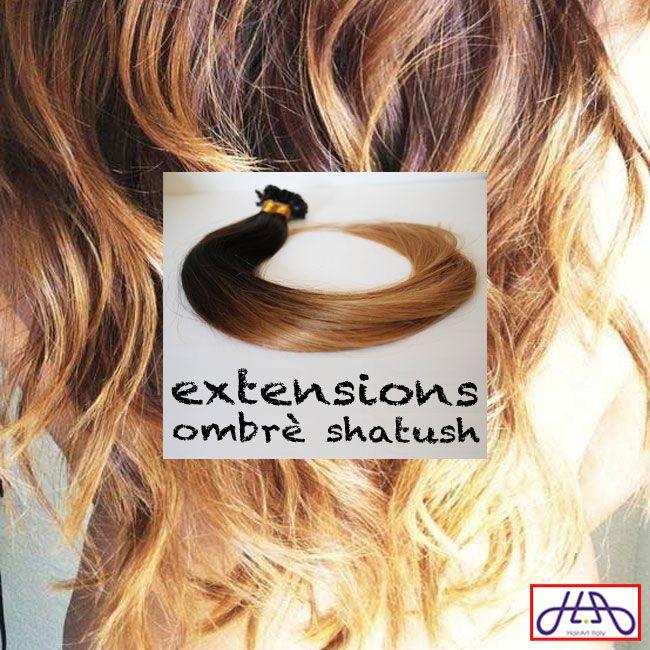 Sono arrivate le nuovissime extension ombrè shatush: solo con i capelli veri puoi ottenere un risultato professionale. Acquista 1 confezione di extension da 100 ciocche e approfitta subito dell'offerta #estatextension: 100 grammi di capelli a soli 97 €! http://bit.ly/ombreshatush #capelli #hairartitaly