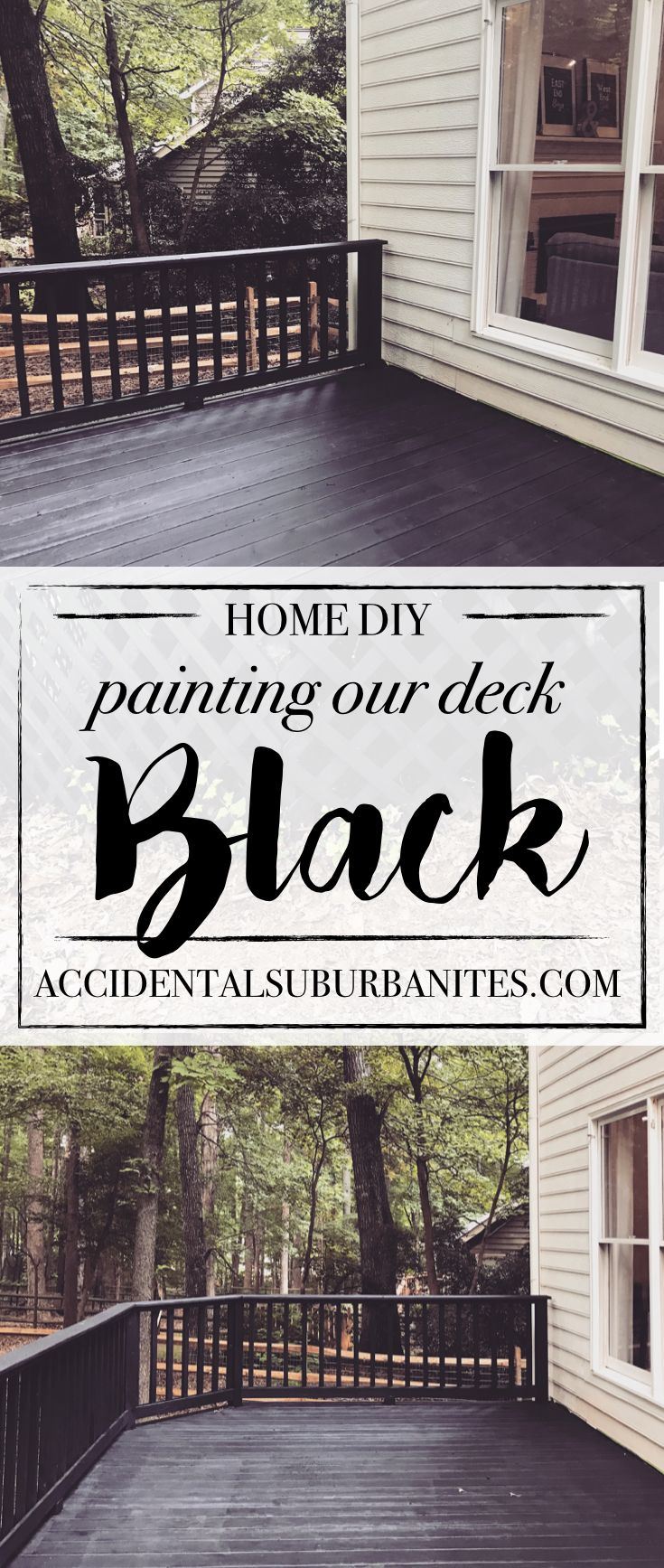 Black deck DIY : painting our deck black – Crystal Johnson