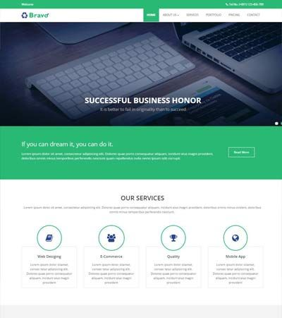 best html5 web template