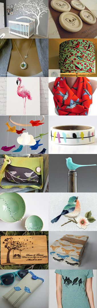 Birds of a Feather Flocking together great bird gifts by Alycea on Etsy--Pinned+with+TreasuryPin.com