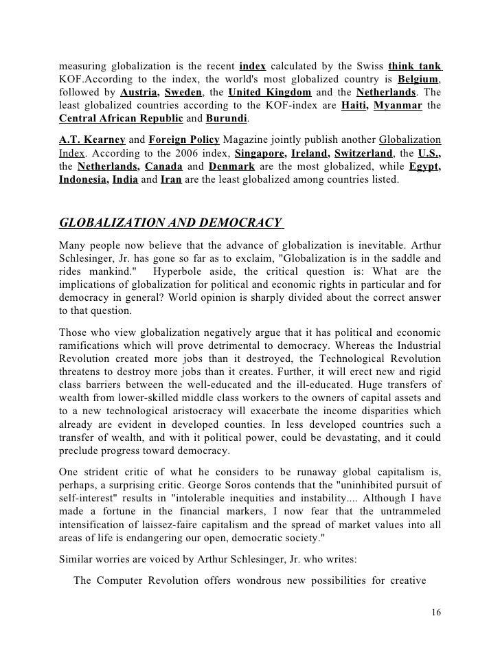 Globalisation It Challenge And Advantage Essay Global Effect Of Globalization Essays