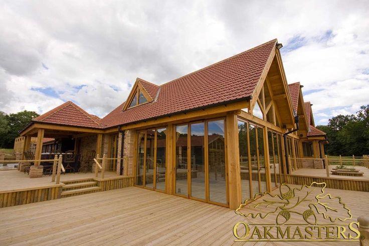 Luxury sun room with glazed gable - Oakmasters -  Dual aspect fully glazed walls…