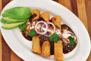 Turkey Crispy Tacos with Mole Sauce – EL MEXICANO