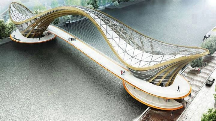 Wooden bridge design netherlands ponts bridges for Design bridge amsterdam