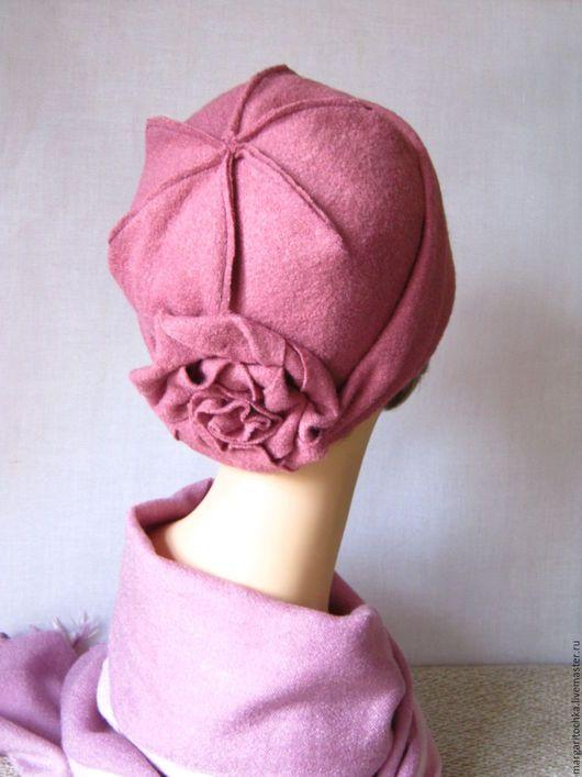 """Шляпы ручной работы. Ярмарка Мастеров - ручная работа. Купить Шляпка """"Парижанка"""" шерсть. Handmade. Розовый, теплая шляпка"""
